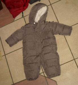 Slightly used Gap Boys 0-6 month Winter Snowsuit, very warm
