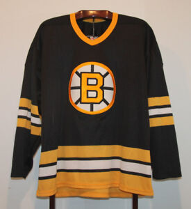 VINTAGE CCM 1990 BOSTON BRUINS ROAD BLACK HOCKEY JERSEY ADULT XL