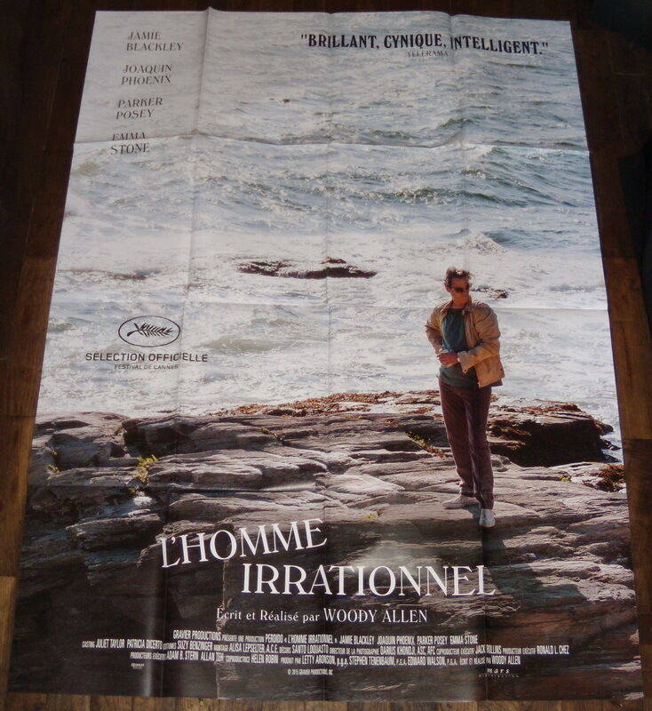The irrational man woody allen joaquin phoenix emma stone  large french poster