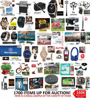 MASSIVE ONLINE AUCTION TUES, MAY 30TH! 150-200K OF INVENTORY!