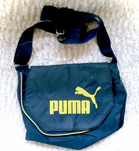 PUMA Navy Blue Big Logo Cross Body Messenger Purse Hand Bag