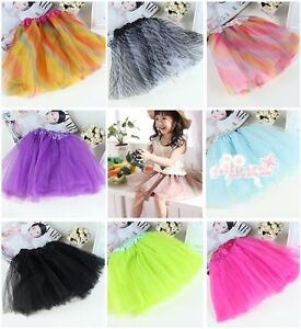 1-Pc-Zebra-Rainbow-Leopard-BALLET-TUTU-Litter-Girl-Party-Skirt-23-Style-Colors