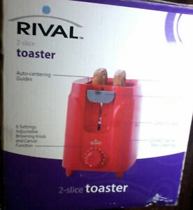 Red Rival 2-Slice Toaster