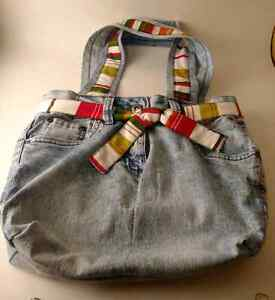 """New Hand Made """"One Of A kind"""" Denim Fully Lined Purse"""