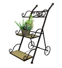 New Indoor Outdoor 3 Tier Plant Trolley Stand Metal Display Shelf Redcliffe Redcliffe Area Preview