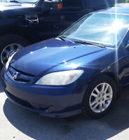 2005 HONDA CIVIC LX WITH SUNROOF IN MINT CONDITION FOR SALE