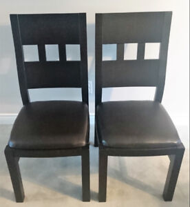 Urban Barn Solid Wood End Chairs (Set of 2)