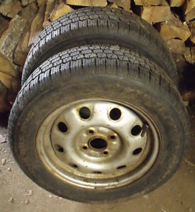 2 x P195/60R14 Winter King Winter Tires & Rims Kawartha Lakes Peterborough Area image 2