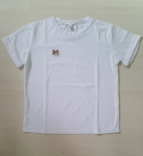 Unisex White Crop Top with tiger/cat embroidery