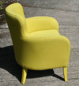 Contemporary Yellow Armchair