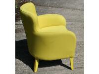 Contemporary Yellow Armchair