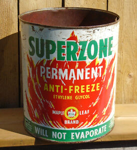 Vintage 1955's CO-OP Maple Leaf Superzone Anti-Freeze Can