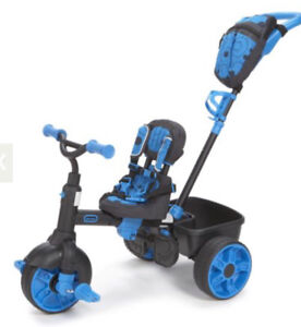 Little Tikes 4-in-1 Ride On, Neon Blue, Deluxe Edition