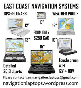 Marine Chartplotter GPS navigation systems = East Coast & NB