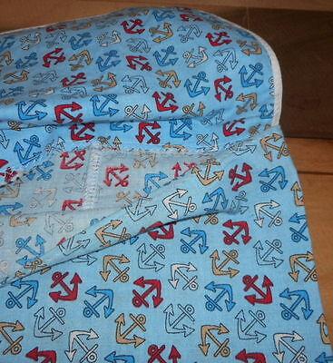 VTG Plastic Bag Holder Reuse Grocery Sack Nautical Blue Fabric Storage Recycle Grocery Sack Holder