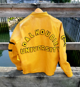Vintage leather Dalhousie varsity jacket
