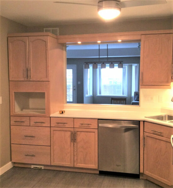 Complete Set of Kitchen Cabinets w/Sink, Tap, Garburator ...