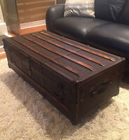 antique Steamer Trunk (1920's)- Amazing Coffee Table