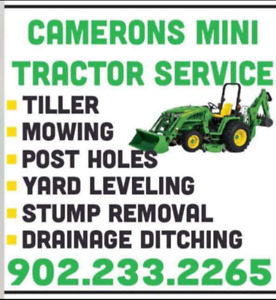 Stump grinding , yard and lawn maintenance leavling and grading