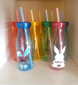 Personalised Easter milk bottles