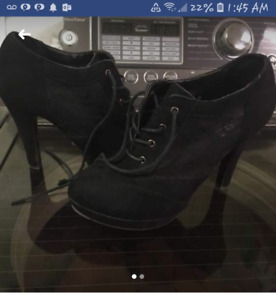 Womens lace boots