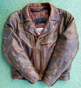 """Chief"" Ultimate Leather Motorcycle Jacket XL"