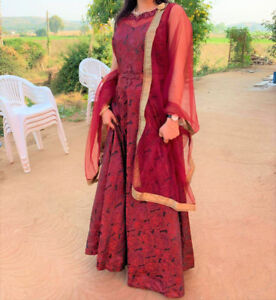 Indian Red Rose Dress for parties and weddings - $200