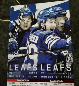 Toronto Maple leafs tickets vs Los Angeles Kings  Mon October 15
