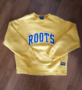 Roots Yellow and Blue Sweater - Size Medium