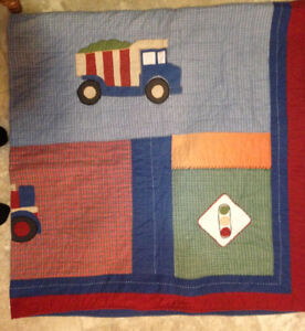 BOYS CONSTRUCTION QUILT FOR DOUBLE SIZE BED