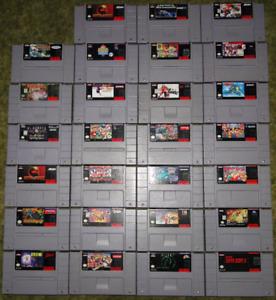 SNES jeux loose et en boite + console Super Nintendo