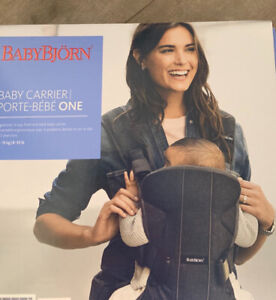 New in box Baby bjorn carrier one Grey with newborn insert