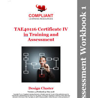 TAE40116 Certificate IV in Training  & Cluster Assessment Help