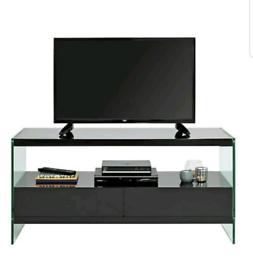 Brand new black glass tv unit