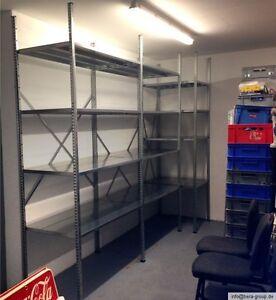 Metall Stahl Werkstatt Garage Keller Lager Fachboden Schwerlast Steck Regal