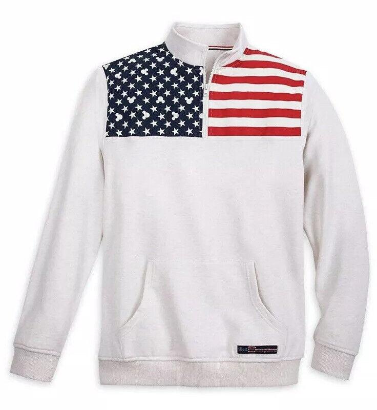 Mickey Mouse Americana 1/4 Zip Pullover for Men – Walt Disney World Size XXL