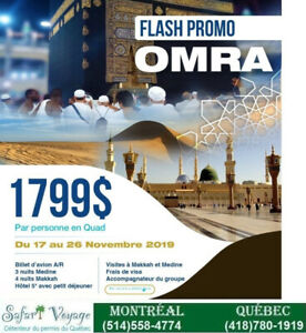 OMRA pas cher à partir de 1799$ en occupation quadruple