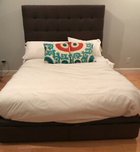 Queen size Bed - headboard and frame