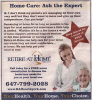 Nursing and Home care services for seniors - North York Region
