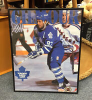 1993 DOUG GILMOUR FRAMED POSTER MAPLE LEAFS COLLECTIBLES