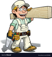 home renovations, carpentry, painting work, tile setting, floor