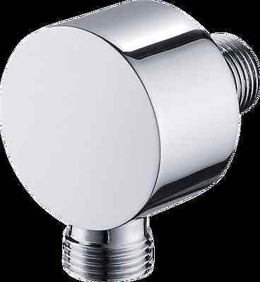 Solid Brass Chrome Wall Mount Hand Shower Supply Elbow Union - Shower Wall Union