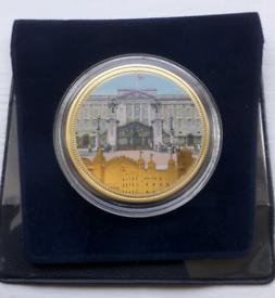 24 Carat Gold Clad commemorative coin - Buckingham Palace