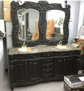 Antique dressers and vanity sink