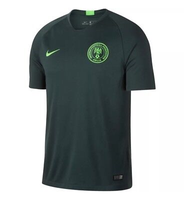 NIKE NIGERIA AWAY WORLD CUP SOCCER JERSEY 2018 FIFA 893885 397 sz SMALL S image