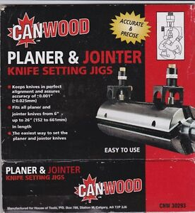 planer and jointer blade setting jigs