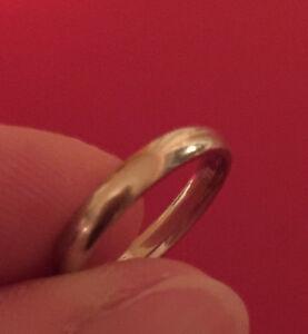 White Gold Wedding Band size 5