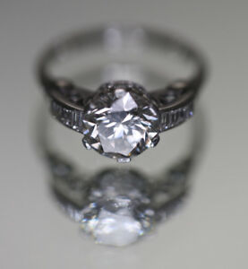 Platunum and Diamond 1.91 Carat Engagement Ring