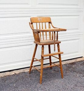 Vintage Baby Chair, all wood, very sturdy.