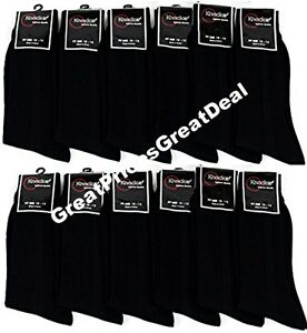 Dress-Socks-All-Black-12-Pairs-Mens-Socks-Size-10-13-Formal-Wear-Comfort-Knocker